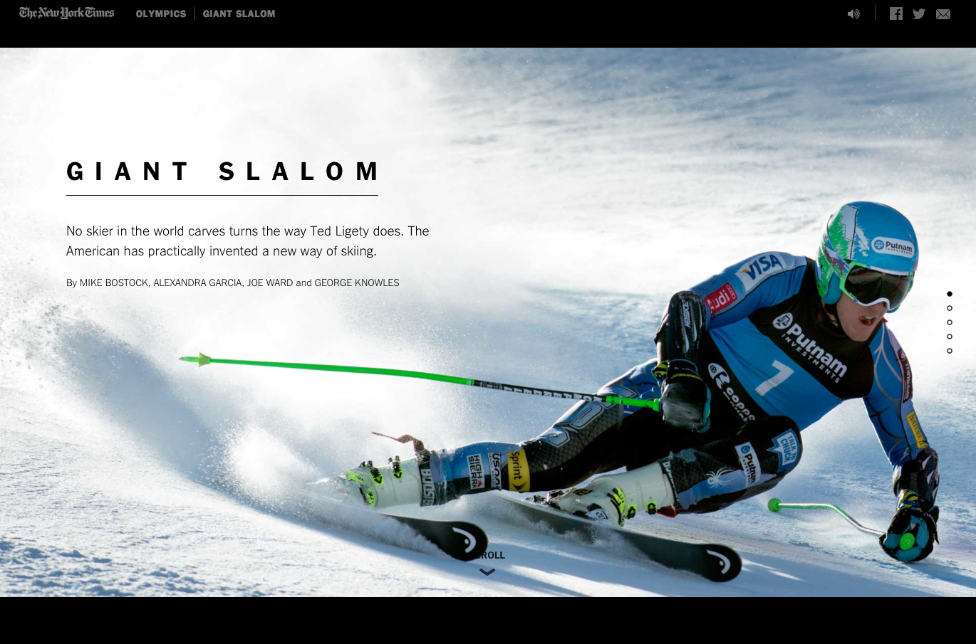 New York Times + animation web + ski = waaaouhhh