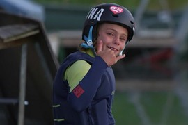 Loic Deschaux, 11 ans, wakeboarder