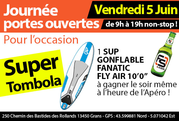 Gagner un SUP Fanatic Fly Air Allround 10'