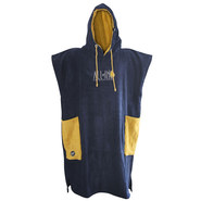 PONCHO ALL-IN CLASSIC BUMPY NAVY/JAUNE