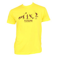 T-SHIRT FLYSURF.COM EVOLUTION JAUNE