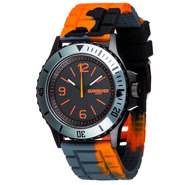 MONTRE QUIKSILVER SLAM GRIS/ORANGE