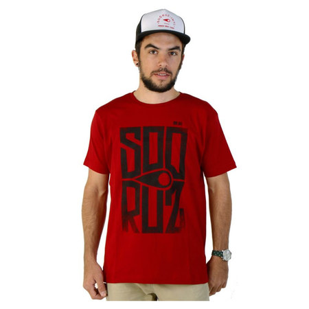 T-SHIRT SOORUZ BLOCK ROUGE