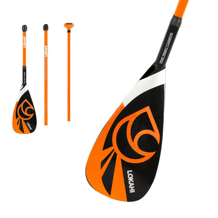 PAGAIE SUP LOKAHI 50% CARBON VARIO 3 PARTIES ORANGE 8.0